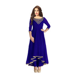 Kmozi Designer smart new Kurti, blue