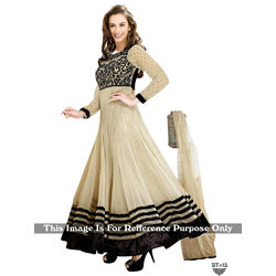 Kmozi Latest Designer Anarkali Suit, cream