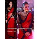 Kmozi Replica Nikesha Fancy Saree, red
