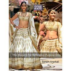 Kmozi Bollywood Sonam Designer Lehenga, white