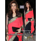 Kmozi Karishma Designer Replica Saree, peach and black