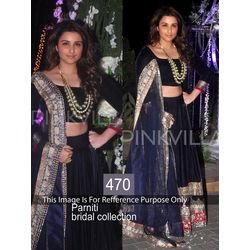 Kmozi Pariniti Bridal Collection Lehenga Choli, blue