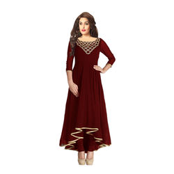 Kmozi Designer beautiful Kurti, brown