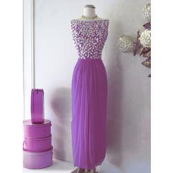 Kmozi Designer Georgette Embroide Kurti, purple