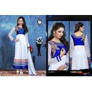 Kmozi Latest Designer Anarkali Suit, white
