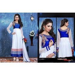 Kmozi Latest Designer Anarkali Suit, white