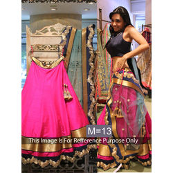 Kmozi Silk Georgette Latest Lehenga Choli, pink
