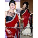 Kmozi Replica Divyanka Designer Saree, red and white