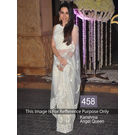 Kmozi Karishma Angel Queen Designer Saree, white