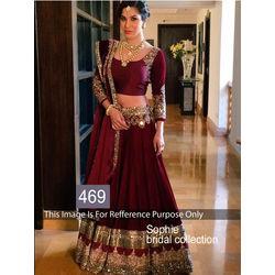 Kmozi Sophi Bridal Collection Lehenga Choli, maroon