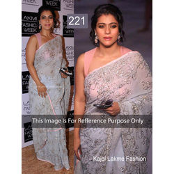 Kmozi Replica Kajol Lakme Fashion Saree, off white
