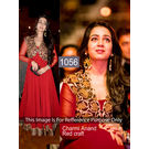 Kmozi Charmi An Craft Latest Anarkali, red