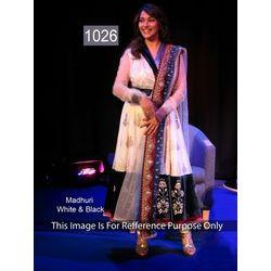 Kmozi Madhuri Designer Anarkali Suit, cream