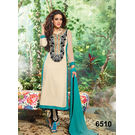 Kmozi Long Different Long Salwar Kameez, cream