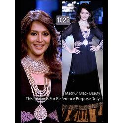 Kmozi Madhuri Dixit In Designer Anarkali Suit Walk At Iijw 2012, black
