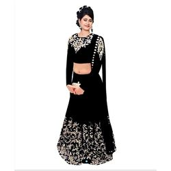 Kmozi Latest Beautiful Designer Lahenga Choli, black