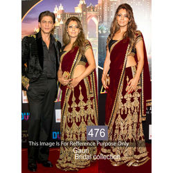 Kmozi Gauri Bridal Collection Designer Lehenga, maroon