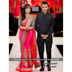 Kmozi Yami Gautam Iifa Queen Saree, pink