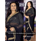 Kmozi Rani Berry Bollywood Saree, black