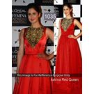 Kmozi Katrina Kaif Anarkali At Loreal Femina Women Awards, red