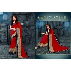 Kmozi Designer Saree Buy Online Shopping, red
