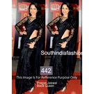 Kmozi Pragya Jayswal New Designer Saree, black