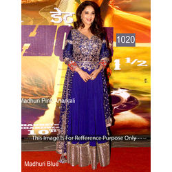 Kmozi Madhuri Fancy Designer Anarkali, blue