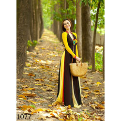 Kmozi Casual Fancy Long Kurti Buy Online Shopping, black and yellow