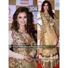 Kmozi Diya Mirja Gold Queen Replica Lehenga, gold