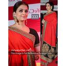 Kmozi Aishwarya Crft Designer Saree, red