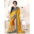 Kmozi Fancy Saree Buy Online Shopping, yellow