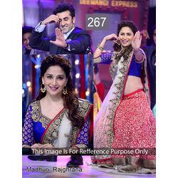 Kmozi Bollywood Designer Lehenga, red