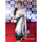 Kmozi Rani Life Style Designer Saree, black and white