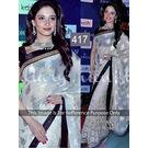 Kmozi Tamanna Rose Designer Saree, white