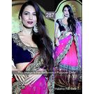 Kmozi Malika Rinbow Designer Lehenga, pink