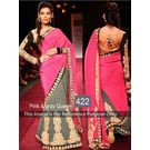 Kmozi Queen Designer Saree, pink and gray