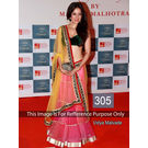Kmozi Vidya Malvade Bollywood Lehenga, pink