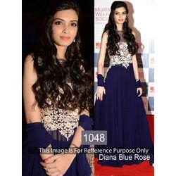Kmozi Diana Rose Designer Anarkali, blue