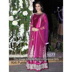 Kmozi Kirti Anarkali Type Dress, purple