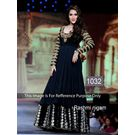 Kmozi Rashmi Nigam Floor Length Anarkali Suit, black