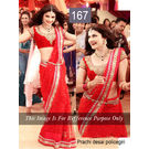 Kmozi Bollywood Prachi Policegiri Saree, red