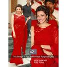 Kmozi Kajal Agrawal Fancy Style Saree, red