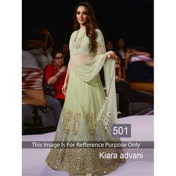 Kmozi Kitara Advani Designer Lehenga Choli, light green
