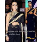 Kmozi Neha Beauty Fancy Saree, black
