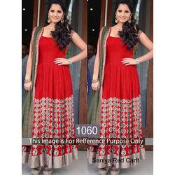 Kmozi Saniya Craft Designer Anarkali, red