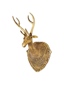 Handecor Vintage Deer Head Wall Hanging Showpiece - 22.5 cm