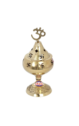 Hazel Brass Diya Oil Lamp Pooja Handi Small S1