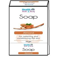 Healthvit Bath & Body Almond Soap 75g