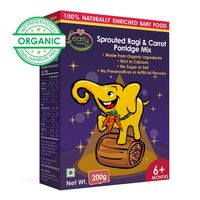 Early Foods Organic Sprouted Ragi & Carrot Porridge Mix 200g