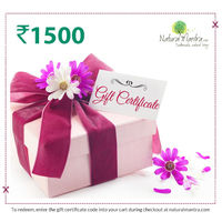 Natural Mantra Gift Certificate - Rs 1500